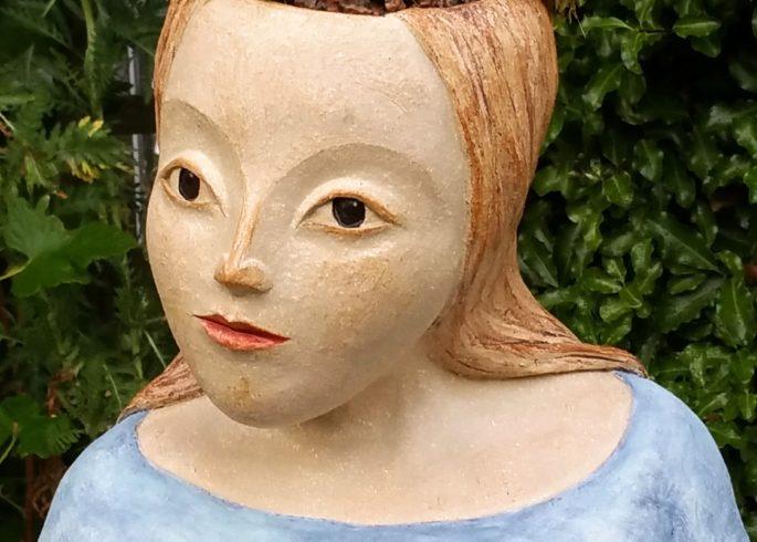Garden Planters. Heads U0026 Masks